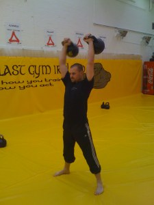 Kettlebell Lifting in 2008 under the instruction of Vasily Gincko