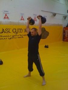Kettlebell Lifting in 2008 under the instruction of Vasily Gincko