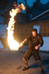 The Kettlebell swing - fire optional.