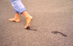 Footprints from healthy feet