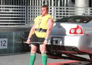 Deadlifting  car for reps. Must be the socks.....